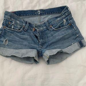 7 denim shorts